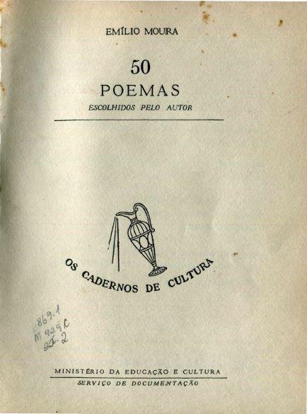 Capa do Livro 50 Poemas Escolhidos pelo Autor