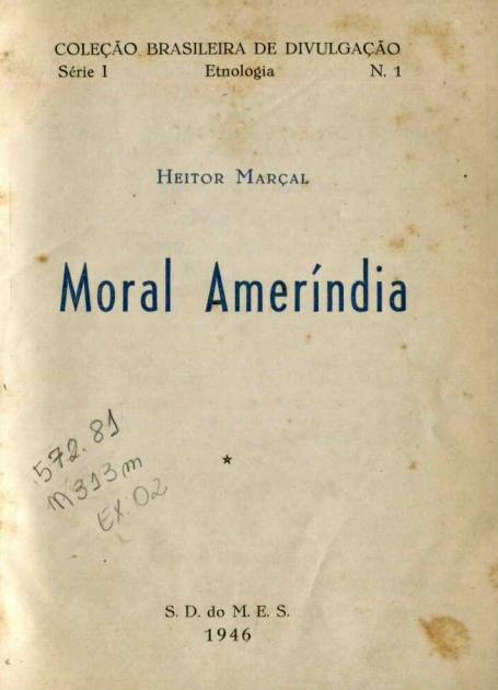 Capa do Livro Moral Ameríndia