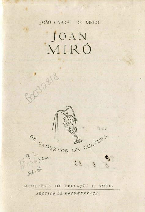 Capa do Livro Joan Miró