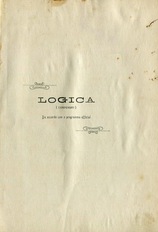 Capa do Livro Logica (Compendio)