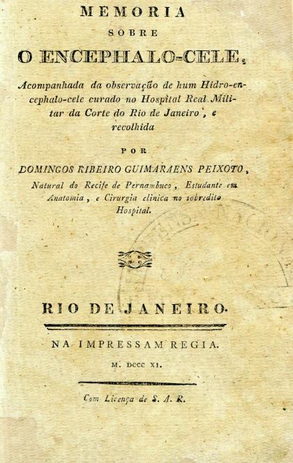 Capa do Livro Memória sobre O Encephalo - Cele
