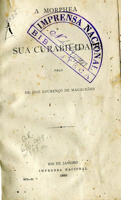 Capa do Livro A Morphea e a sua Curabilidade