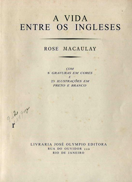 Capa do Livro A Vida Entre os Ingleses
