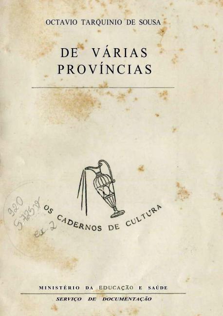 Capa do Livro De Várias Províncias